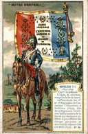 CHROMO CHICOREE EXTRA DANIEL VOELCKER-COUMES BAYON  NOTRE DRAPEAU GARDE IMPERIALE  NAPOLEON III - Cromo
