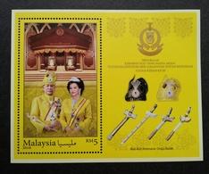 Malaysia Installation Of KDYMM Sultan Sallehuddin Kedah 2018 Royal King (ms) MNH * Metallic Gold Ink - Malaysia (1964-...)
