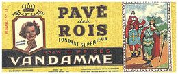 P V /Buvard N° 13 Pain D'épices Vandamme  (Format 08  X 18) (N= 1) - Pain D'épices