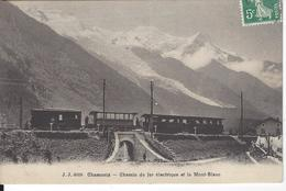 74 CHAMONIX MONT BLANC PONT FERROVAIRE TRAIN PLM SNCF A VOIX METRIQUE LE FAYET MARTIGNY JULLIEN FRERES JJ 6008 - Chamonix-Mont-Blanc