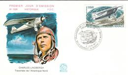France 1977 Charles Lindbergh FDC - FDC