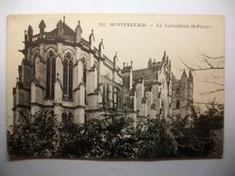 Carte Postale Montpellier (34) La Cathedrale St Pierre ( Petit Format Noir Et Blanc Non Circulée ) - Montpellier