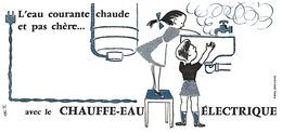 E E/Buvard Electricité Eau Chaude  (Format 11  X 22) (N= 3) - Electricity & Gas