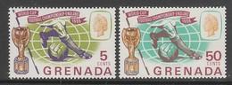 PAIRE NEUVE DE GRENADA - COUPE DU MONDE DE FOOTBALL 1966 N° Y&T 215/216 - World Cup