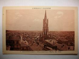 Carte Postale Montpellier (34) Panorama Vers L'Eglise Ste Anne ( Petit Format Noir Et Blanc Non Circulée ) - Montpellier