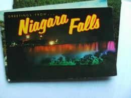 Canada Ontario Niagara Falls Greetings By Night - Niagara Falls