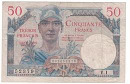 50 Francs Trésor Français TTB - Treasury