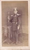 Photo Cdv Militaire Musicien Joueur De Clarinette Vers 1870  ( Garde Nationale ? ) - Anciennes (Av. 1900)