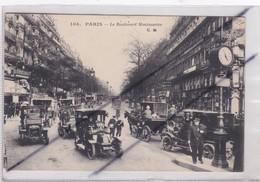 PARIS (75) 2 ém Et 9 ém Arr. Le Boulevard Montmartre (importante Circulation Déja En 1915)(Policier) - Arrondissement: 02