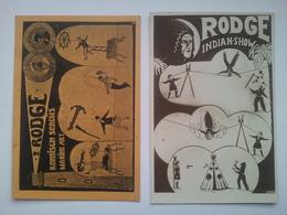 2 Old Postcards Circus RODGE - Postcards