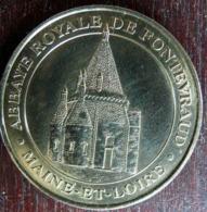 ABBAYE ROYALE DE FONTEVRAUD 2000 MONNAIE DE PARIS COLLECTION NATIONALE MEDAILLE OFFICIELLE JETON TOURISTIQUE - Monnaie De Paris