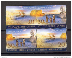 Cyprus 2004 (Vl 866AB-867AB) Europa 2 Imperforate Sets From Booklet MNH - Zypern (Republik)