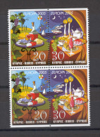 Cyprus 2005 (Vl 887AB-888AB) Europa 2 Imperforate Sets From Booklet MNH - Zypern (Republik)
