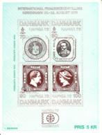 Denmark Exhibition Card HAFNIA 76 Slania, Ferslew's Essays Brown Print - Danemark
