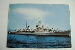 NAVE INDOMITO  D 559  EDIZ TARANTO MARINA MILITARE   NAVE DA GUERRA WAR SHIP  WARSHIP  VIAGGIATA - Warships