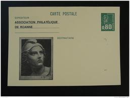 Entier Postal Carte Marianne De Béquet Repiquage Gandon Association Philatélique De Roanne - Entiers Postaux