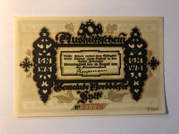 Allemagne Notgeld Norddorf 1 Mark - [ 3] 1918-1933 : Weimar Republic