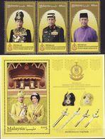 Malaysia 2018-18 Installation Of Sultan Kedah Set+M/S MNH Royalty Unusual - Malaysia (1964-...)