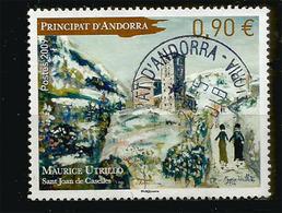 """Tableau De Maurice Utrillo """"Vues De L'Eglise De St Joan De Caselles"""" Andorre. Oblitéré 1 ère Qualité 2009 - Gebruikt"""