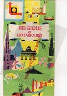 BELGIQUE ET LUXEMBOURG-BELGIE EN LUXEMBURG- CARTE ROUTIERE  SHELL BENELUX - Cartes Routières