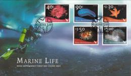 Ross Dependency 2003 FDC Scott #L79-#L83 Set Of 5 Marine Life - FDC