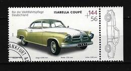 BUND Mi-Nr. 2293 Borgward Isabella Coupé (1957) Gestempelt (7) - Autos