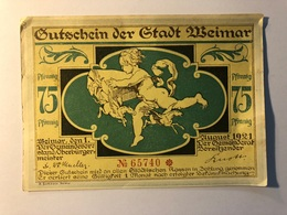 Allemagne Notgeld Weimar 75 Pfennig - [ 3] 1918-1933 : Weimar Republic