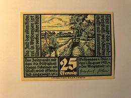Allemagne Notgeld Weissenee 25 Pfennig - [ 3] 1918-1933 : Weimar Republic