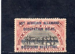 RUANDA-URUNDI 1916 * - 1916-22: Mint/hinged