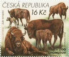 936 Czech Republic Nature Protection: Zoological Gardens II 2017 Wisent/bison - Cows