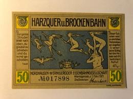 Allemagne Notgeld Wernigerode 50 Pfennig - [ 3] 1918-1933 : Weimar Republic
