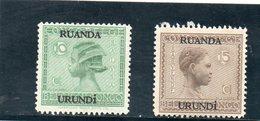RUANDA-URUNDI 1929 * - Ruanda-Urundi