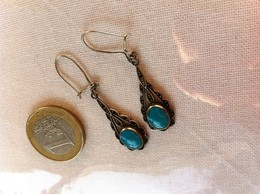 Paire BO Argent,silver,turquoise ? - Ethnics
