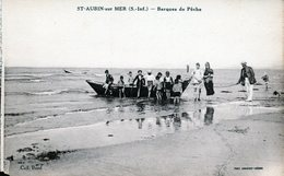 Cpa - Saint-Aubin-sur-Mer - Barques De Pêche  - - Francia