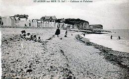 Cpa - Saint-Aubin-sur-Mer - Cabines Et Falaises - - Francia
