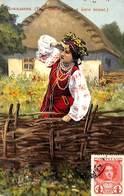Widoki I Typy Ukrainy - Les Types Et Vues De Ukraine (1914, Woman) - Ukraine