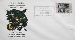COTE D'IVOIRE 1960 - 1ere Réunion Internationale BANANE  CAFE - Daté Abidjan 12 - 19.10.1960 - TBE - Ivory Coast (1960-...)
