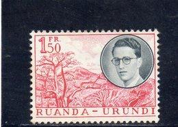 RUANDA-URUNDI 1955 * - 1948-61: Neufs