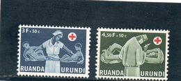 RUANDA-URUNDI 1957 * - 1948-61: Neufs