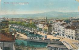 Croatia Rijeka Fiume 1917 / Veduta Generale Scoglietto / Panorama / Bridge, Ships, Port - Croatia