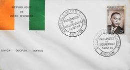 Répub. COTE D'IVOIRE 1960 - Proclamation De L'Indépendance - Daté Abidjan 7.8.1960 - TBE - Ivory Coast (1960-...)