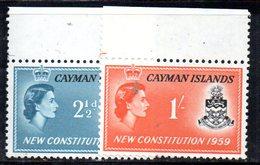 T1057 - CAYMAN 1953, Serie Integra Yvert 155/156  *** - Cayman (Isole)