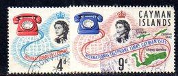 T1058 - CAYMAN 1966, Serie Yvert 193/194  Usata. Telefono - Cayman (Isole)