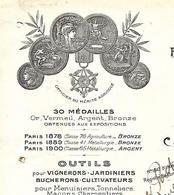 Facture 1928 / 52 VICQ / H. REMONQUIN / Fabrique D'outils Fer, Fonte, Acier, Coutellerie, Scierie - France