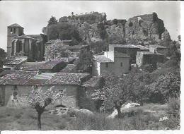 18 - CIRQUE DE MOUREZE - L'EGLISE ET LE ROCHER DOMINES PAR LES RUINES DU CHATEAU - Francia