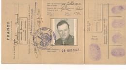 Services Français En Territoires Occupés  Occupation Carte D' Identité Militaire 1947 ( Montigny Edmond ) - 1939-45