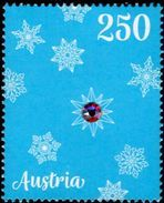 Austria - 2017 - Christmas - Christmas Ornaments With Swarovski - Mint Stamp With Real Swarovski Glass Crystal - 1945-.... 2ème République