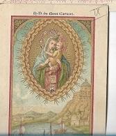 DI/14/N.D.DU MONT CARMEL KORTRIJK CONGR.JONGE DOCHTERS RETRAITE 1898     LITHO  + GOUDOPDRUK - Religion & Esotérisme