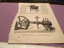 Une Page  Du Live Les Merveille De L'exposition  Moteurs à Ressort Machine Avec Distribution De Vapeur Système Collmann - Machines