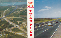 Greetings From New Jersey Turnpike - Highway - Unused - 2 Scans - Essex Junction